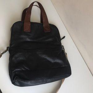Cynthia Rowley leather pebbled messenger handbag